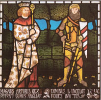 King Arthur and Sir Lancelot